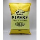 150g英國Pipers手工薯片。芝士洋蔥味